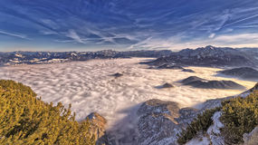 Alpi tedesche & austriache Immagini Stock Libere da Diritti