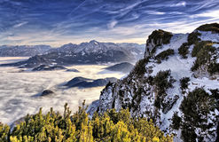 Alpi tedesche & austriache Fotografia Stock Libera da Diritti