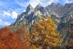 Alpi tedesche in autunno Fotografia Stock Libera da Diritti