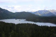 Alpi tedesche durante l'estate Immagini Stock Libere da Diritti