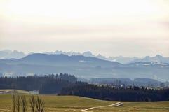 Alpi tedesche grandangolari Immagine Stock