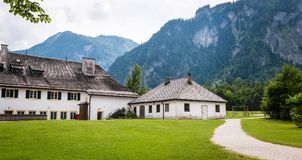 Alpi tedesche in Koningssee Paesaggio della montagna Fotografia Stock Libera da Diritti