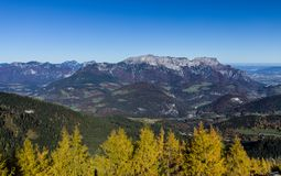 Alpi tedesco-austriache di panorama vicino a Berchtesgaden in autunno Immagine Stock Libera da Diritti