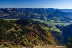 Alpi tedesco-austriache di panorama vicino a Berchtesgaden in autunno Fotografia Stock Libera da Diritti