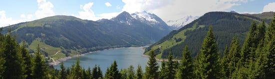 Alpi in Tirolo, lago Fotografia Stock