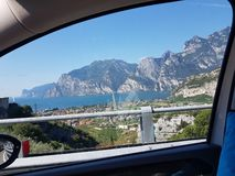 Trentino summer mountains view from The car royalty free stock images