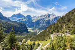 Alpi vicino a Kandersteg Fotografie Stock Libere da Diritti