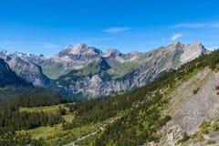 Alpi vicino a Kandersteg Immagine Stock