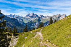Alpi vicino a Kandersteg Fotografie Stock