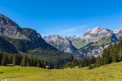 Alpi vicino a Kandersteg Fotografia Stock Libera da Diritti