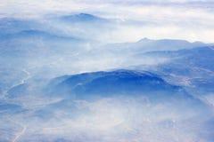 Alpi - vista aerea Immagine Stock Libera da Diritti