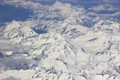 Alpi - vista aerea Fotografie Stock