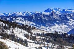 Alpi, vista dal Mt Rigi Fotografia Stock