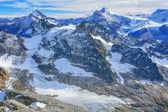 Alpi, vista dal Mt Titlis Immagini Stock Libere da Diritti