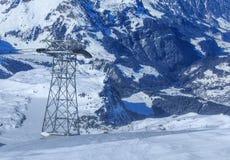 Alpi, vista dal Mt Titlis nell'inverno Fotografia Stock Libera da Diritti