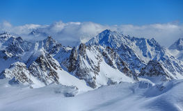 Alpi, vista dal Mt Titlis nell'inverno Immagini Stock