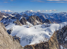 Alpi, vista dal Mt Titlis in Svizzera Immagine Stock