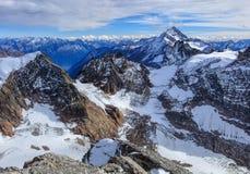 Alpi, vista dal Mt Titlis in Svizzera Fotografia Stock Libera da Diritti