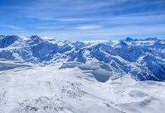 Alpi, vista dal Mt Titlis in Svizzera Immagini Stock