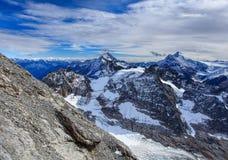 Alpi, vista dal Mt Titlis in Svizzera Immagini Stock Libere da Diritti
