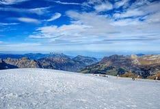 Alpi, vista dal Mt Titlis in Svizzera Immagine Stock Libera da Diritti