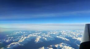 Alpi - vista dall'aereo Fotografie Stock Libere da Diritti