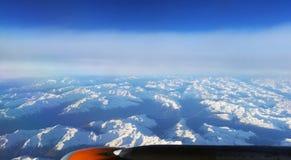 Alpi - vista dall'aereo Immagini Stock