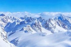 Alpi, vista dalla cima del Mt Titlis in Svizzera Fotografie Stock