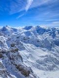 Alpi, vista dalla cima del Mt Titlis in Svizzera Fotografia Stock