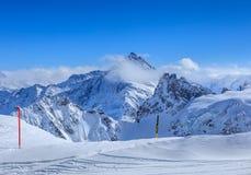 Alpi, vista di orario invernale dal Mt Titlis in Svizzera Fotografie Stock Libere da Diritti