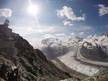 Alpi in Zermatt Fotografie Stock