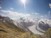 Alpi in Zermatt Immagine Stock Libera da Diritti
