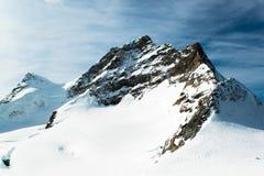 Alpien de berglandschap van Alpen in Jungfraujoch Royalty-vrije Stock Afbeelding