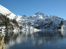 Alpien de winterlandschap royalty-vrije stock afbeelding