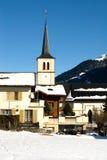 Alpien Dorp royalty-vrije stock afbeelding