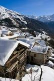 Alpien dorp Royalty-vrije Stock Fotografie