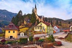 Alpien dorp Prein op RAX Lager Oostenrijk royalty-vrije stock foto's