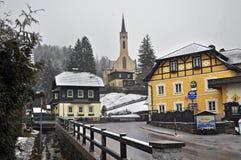 Alpien dorp Prein op RAX oostenrijk Royalty-vrije Stock Afbeeldingen