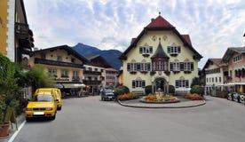 Alpien dorp Sankt Gilgen oostenrijk Royalty-vrije Stock Afbeeldingen