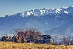 Alpien landelijk landschap Stock Afbeeldingen
