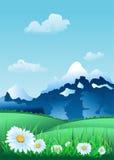 Alpien Landschap Royalty-vrije Illustratie