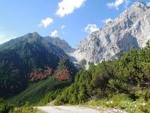 Alpien landschap in de herfst Stock Afbeeldingen