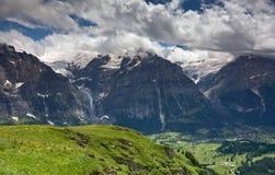Alpien landschap, Grindelwald (Zwitserland) Stock Foto