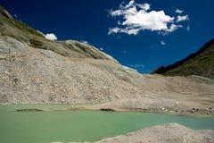 Alpien landschap (Grossglockner gletsjer, Oostenrijk) Stock Foto