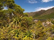 Alpien landschap in MT- gebieds nationaal park Stock Foto