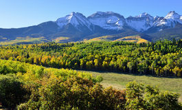 Alpien landschap van Colorado tijdens gebladerte Royalty-vrije Stock Afbeeldingen