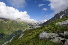 Alpien landschap vroeg in de ochtend Royalty-vrije Stock Fotografie