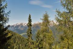 Alpien landschap in Westelijke Carinthia, Oostenrijk Royalty-vrije Stock Fotografie