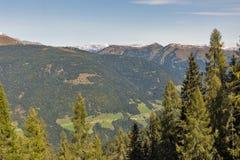 Alpien landschap in Westelijke Carinthia, Oostenrijk Stock Fotografie