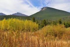 Alpien landschaps in de herfst seizoen Stock Afbeeldingen